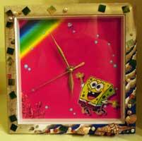 Часы для поклонника Губки Боба. Мастер-класс